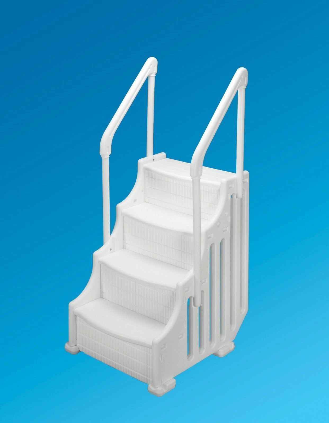 Swimming pool steps ladder floats tubes above ground spa outdoor backyard indoor ebay - Above ground pool steps ...