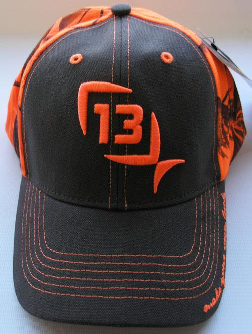 13 fishing ditch chicken brown with camo blaze orange for 13 fishing hat
