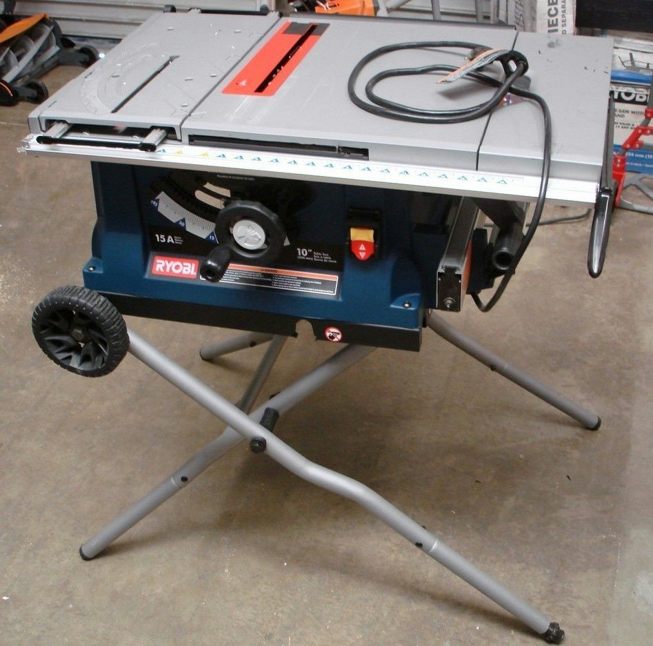 Ryobi Rts31 10 Table Saw W Wheeled Stand Ebay