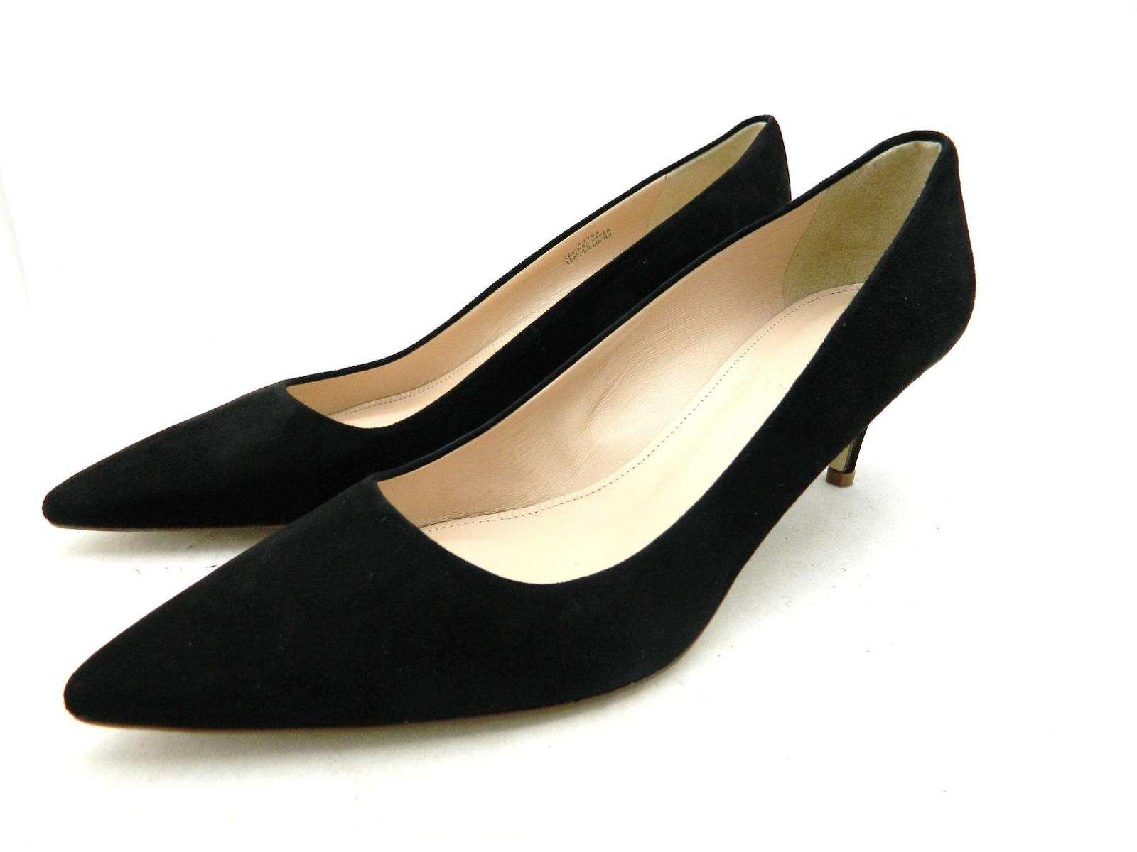 large discount lace up in united states NEW $198 J Crew Dulci Suede Kitten Heels Shoes Size 5 Black A9758 ...