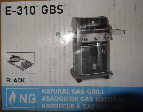 weber 47513101 spirit e 310 3 burner natrl gas grill w gourmet bbq system ebay. Black Bedroom Furniture Sets. Home Design Ideas