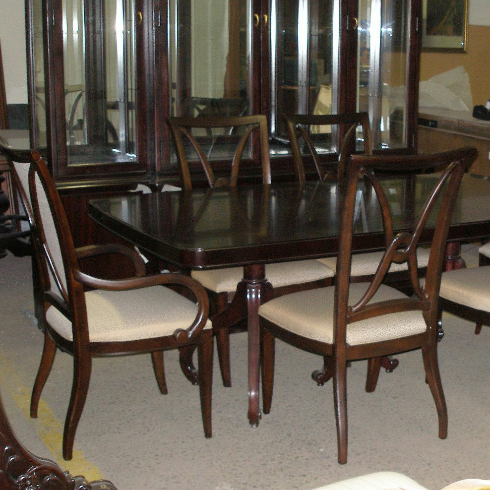Thomasville Furniture Nocturne Dining Table Studio 455 Chairs Opt China Cabinet Ebay
