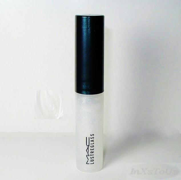 mac lustreglass lip gloss lustrewhite clear w glitter