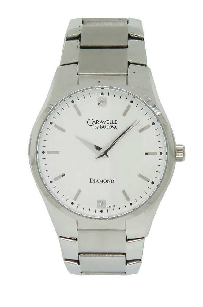 caravelle by bulova diamond 43d105 men 039 s round analog off movement