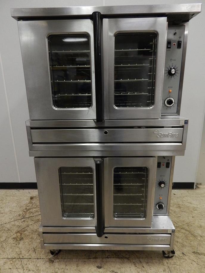 us range sunfire double stack gas convection oven model sdg 1 ebay. Black Bedroom Furniture Sets. Home Design Ideas