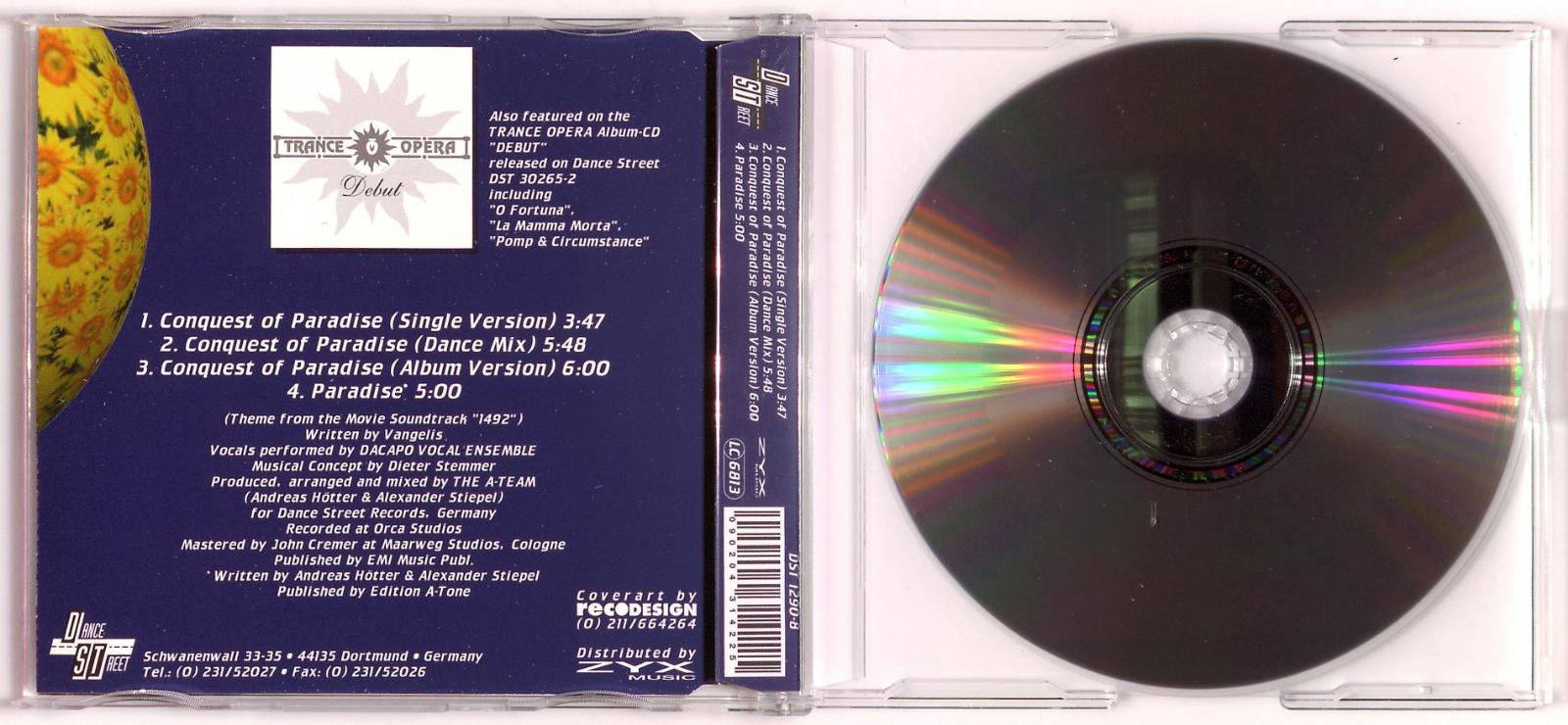 Trance Opera - Conquest Of Paradise (Pop Dance Remix, Columbus Mix)