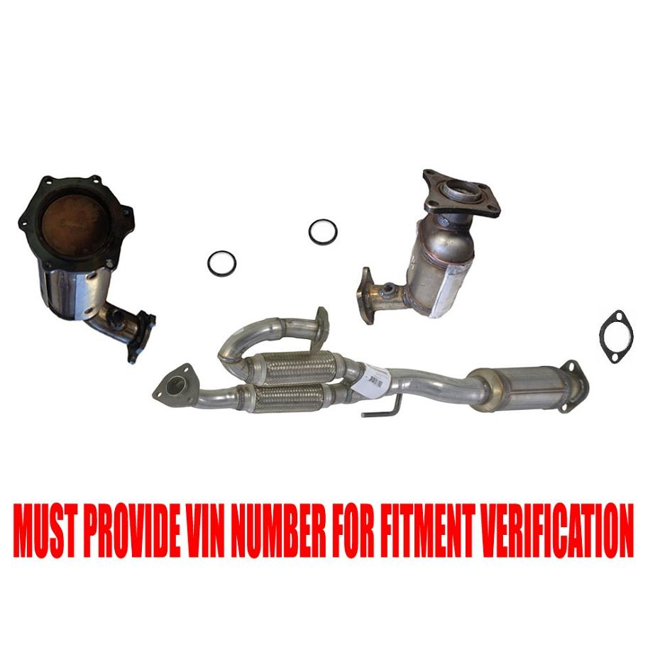 Front Converter And Rear Flex Pipe Converter For Nissan