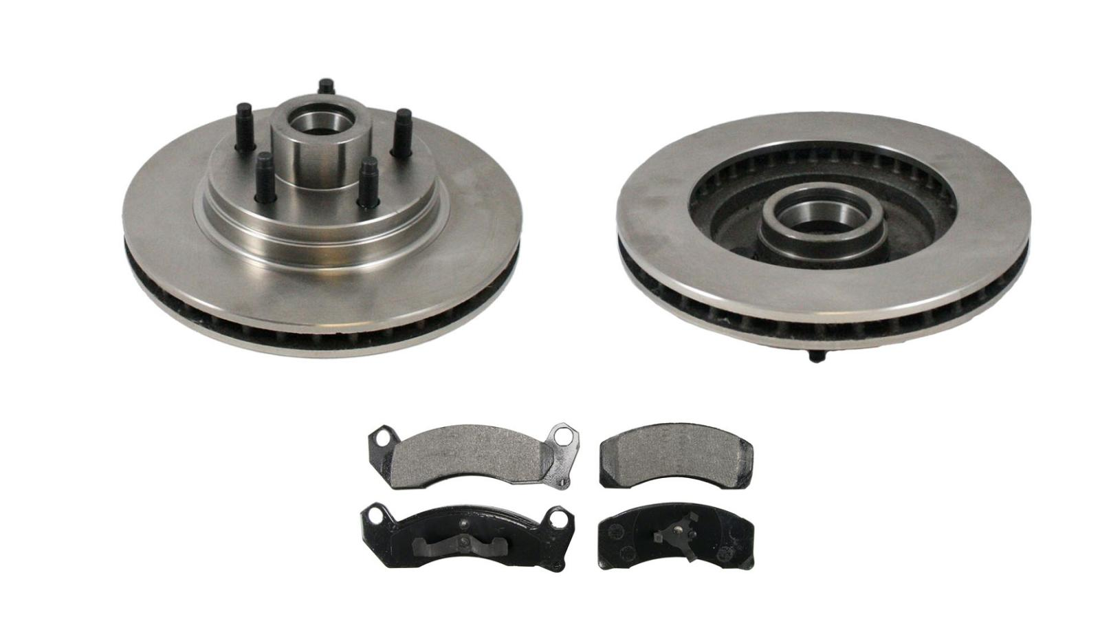 84 89 Mark Vii Front Without Abs Brakes Brake Rotor Pads 2
