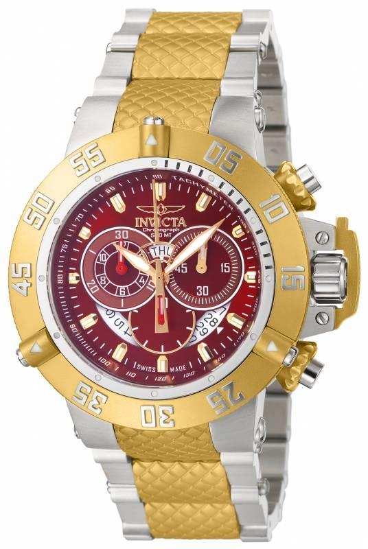 invicta 80509 50mm subaqua noma iii swiss chronograph red dial invicta 80509 50mm subaqua noma iii swiss chronograph