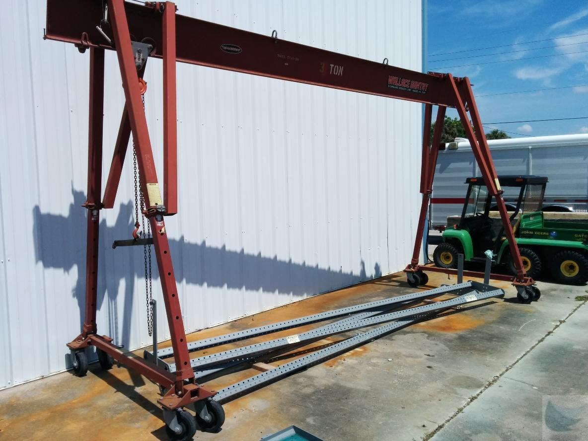 3 Ton Gantry : Wallace ton tri adjustable gantry crane hoist rail ebay