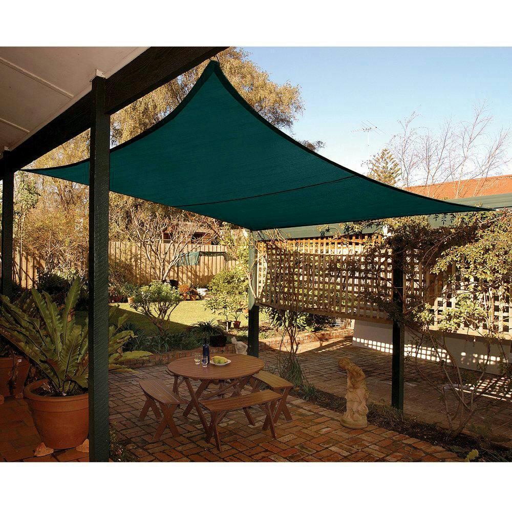 Best Canopy For Backyard :  039SquareSunSailShadeCanopyTopCoverOutdoorPatioGardenGreen