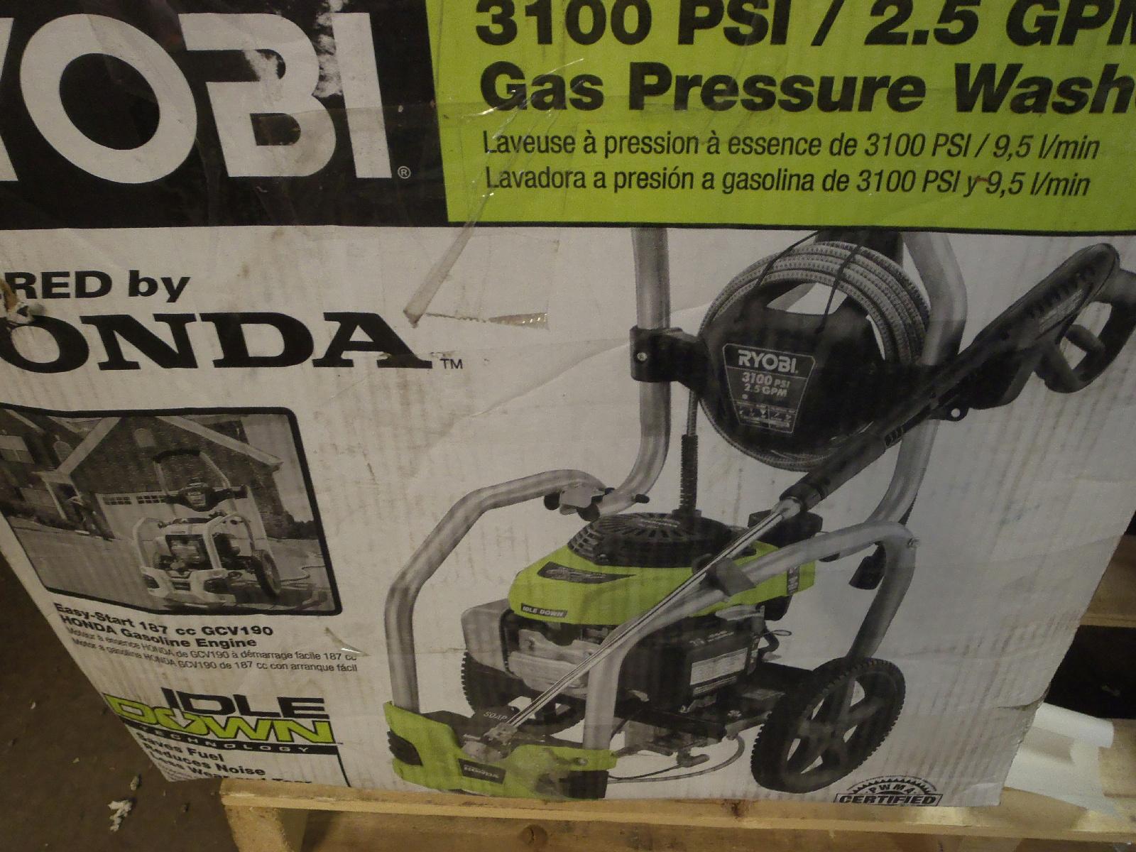 ryobi 3100 psi 2.5 gpm pressure washer manual