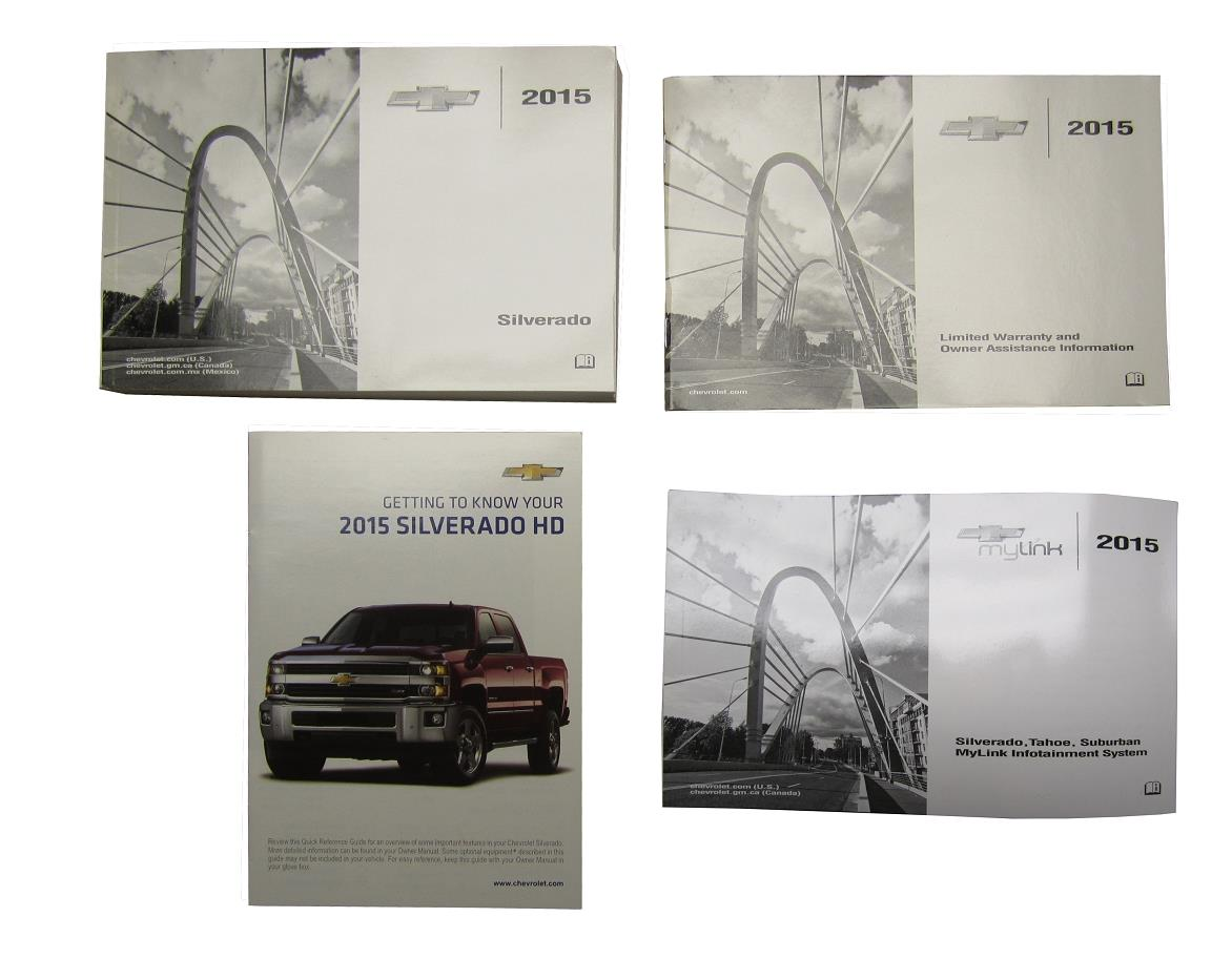 NEW OE 2015 Chevy Silverado HD Driver User Owners Manual w/MyLink Guide  22953714