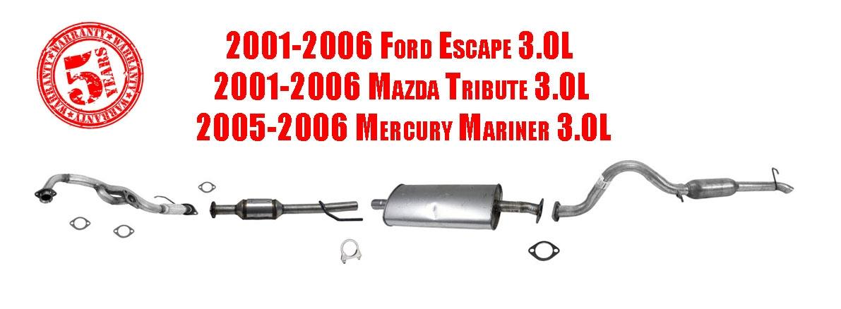 Escape Tribute 0104 30l Converter Flex Pipe Muffler Tail: 2005 Mazda Tribute Catalytic Converter At Woreks.co