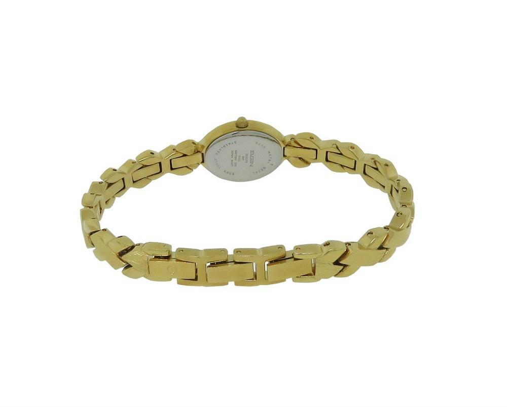 Details about Elgin Diamond EG237N Women's Oval Analog Gold Tone Weave  Pattern Watch