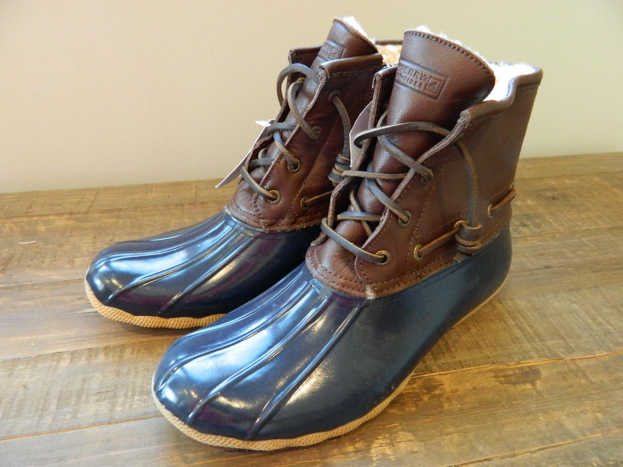 sperry top sider for j crew leather saltwater boots 8