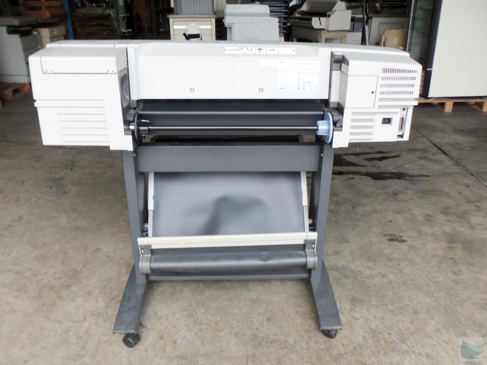 hp designjet 500 model c7769b 24 wide format printer plotter w jetdirect 615n ebay. Black Bedroom Furniture Sets. Home Design Ideas