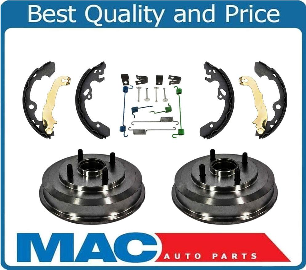 2000 2008 focus rear brake drums with wheel bearings brake shoes and hardware ebay. Black Bedroom Furniture Sets. Home Design Ideas