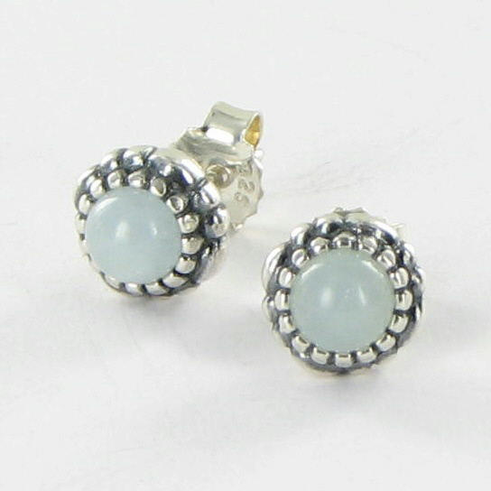 pandora 290543aq birthday blooms earrings march aquamarine