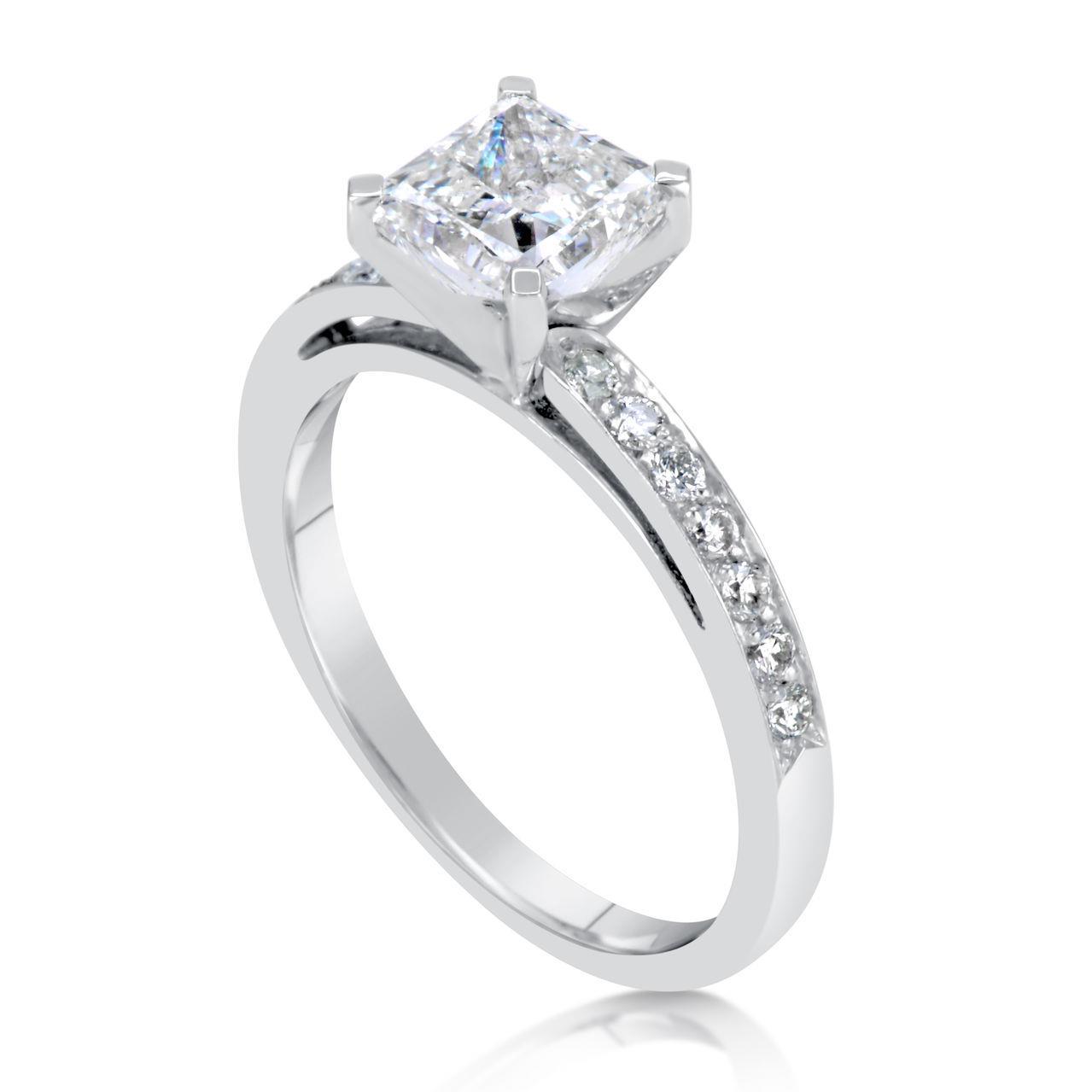 1 5 ct princess cut d vs2 engagement ring 14k