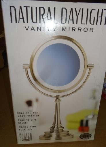 sunter lighting natural daylight lighted vanity mirror retail 79 69 ebay. Black Bedroom Furniture Sets. Home Design Ideas