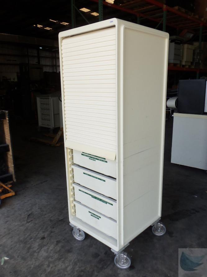 herman miller rolling medical storage cart 5 drawer 3 shelf 24 w x 26 d x 69 h ebay. Black Bedroom Furniture Sets. Home Design Ideas