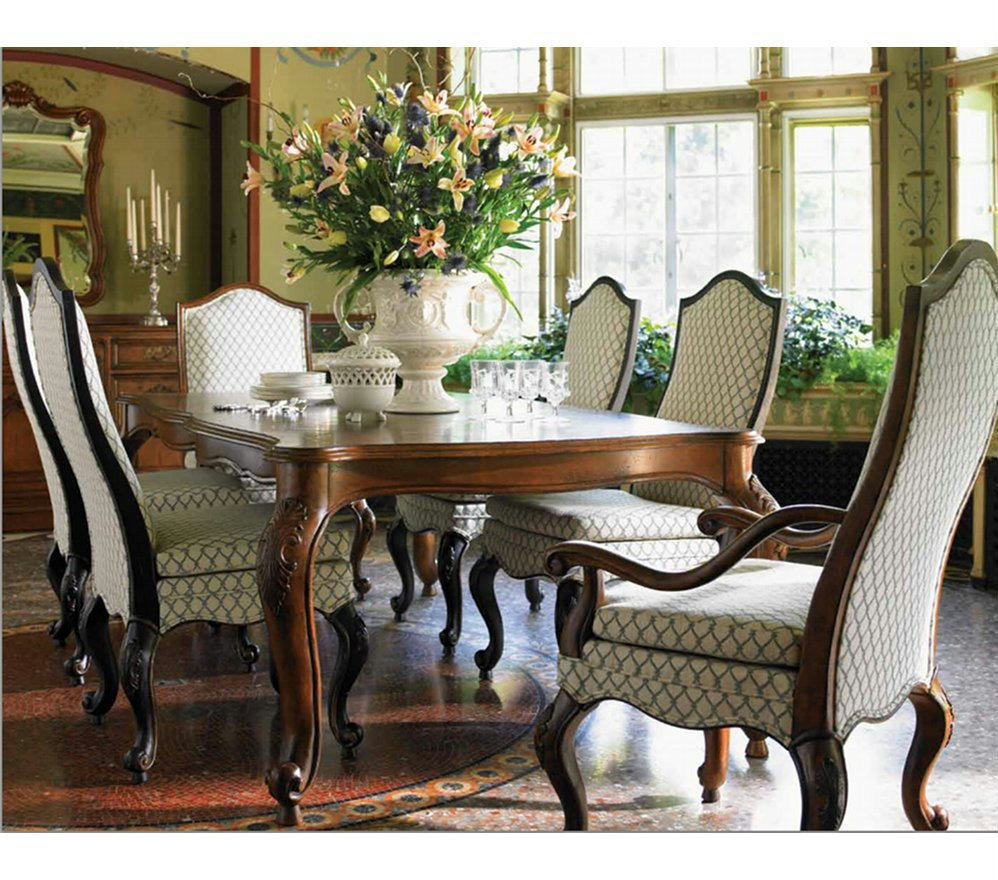 Drexel Heritage Furniture Table for Royals and/or Set of 6 Parlor ...