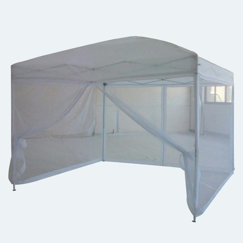 Pop Up Gazebo 10x10 : Quictent white pop up gazebo party tent canopy mesh