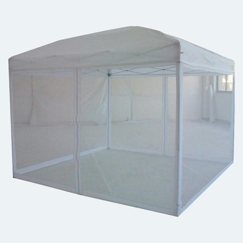 Quictent 10x10 white pop up gazebo party tent canopy mesh - Screen netting for gazebo ...