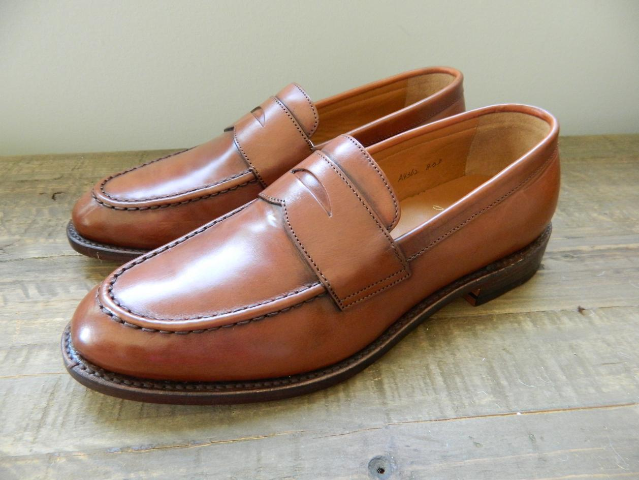 819f8477903 Details about JCREW Ludlow Leather Penny Loafers Shoes  298 8 english tan  brown a4362 NEW