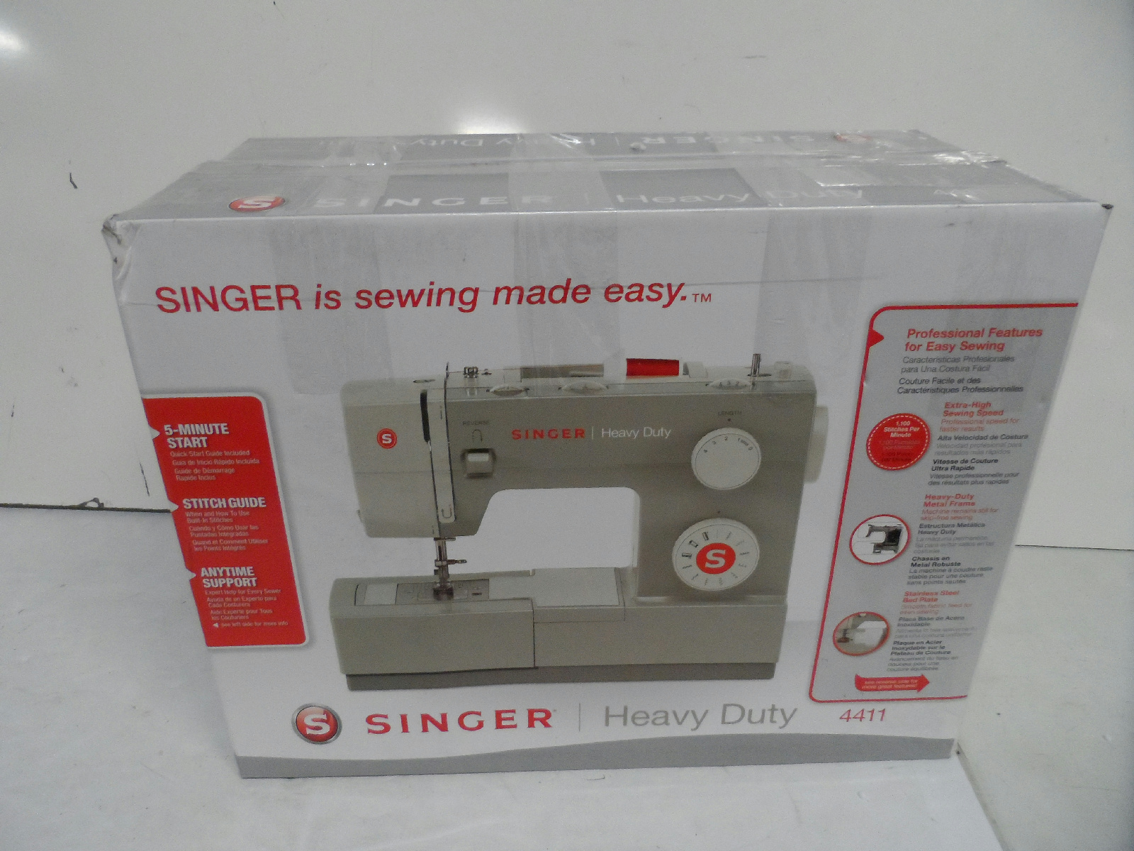singer 4411 heavy duty high sewing speed sewing machine