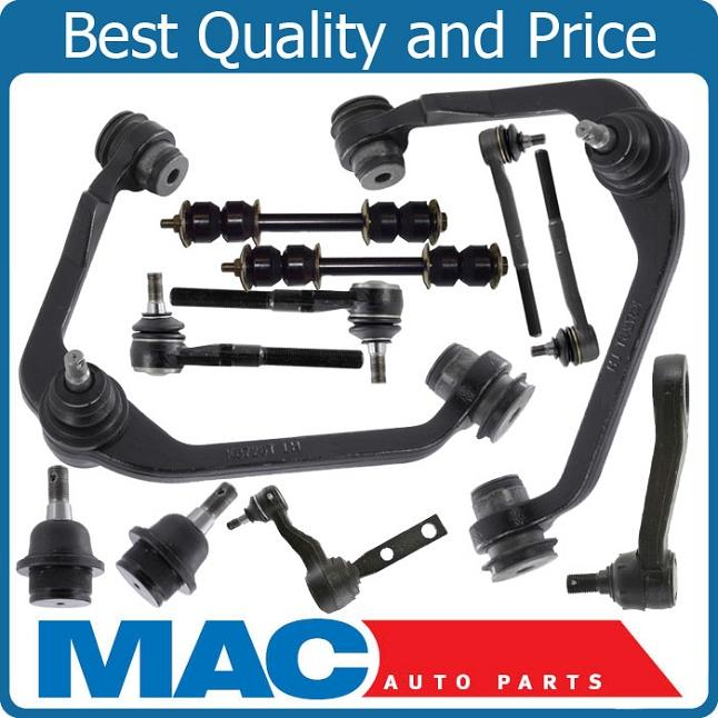 Front Suspension Kit 12pc Ball Joints Arms 97 03 Ford F