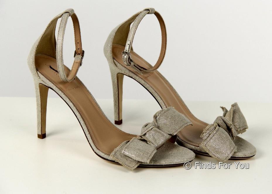 d157904b99e Details about J Crew Metallic Linen Bow High Heel Sandals 9 B7918 Womens  Shoes Flats