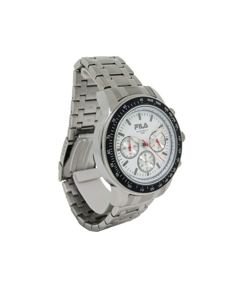 Fila fa0783 25 cortina men 39 s round stainless steel off white chronograph watch ebay for Fila watches