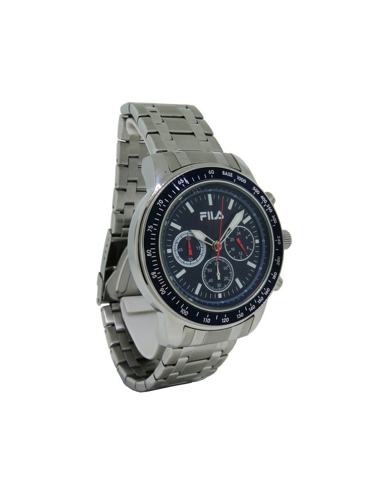 Fila fa0783 22 cortina men 39 s stainless steel navy blue chronograph watch ebay for Fila watches