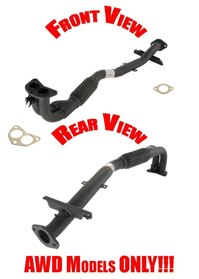 2003 Mitsubishi Outlander AWD Exhaust Front Pipe with Flex