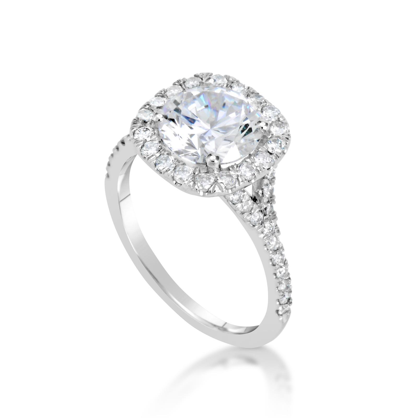2 8 Ct Si1 D Round Cut Diamond Solitaire Engagement Ring
