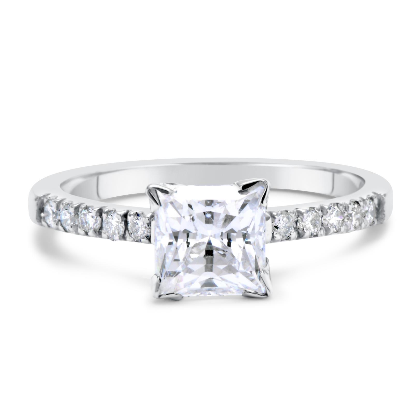 1 5 ct si1 d princess cut engagement ring 14k