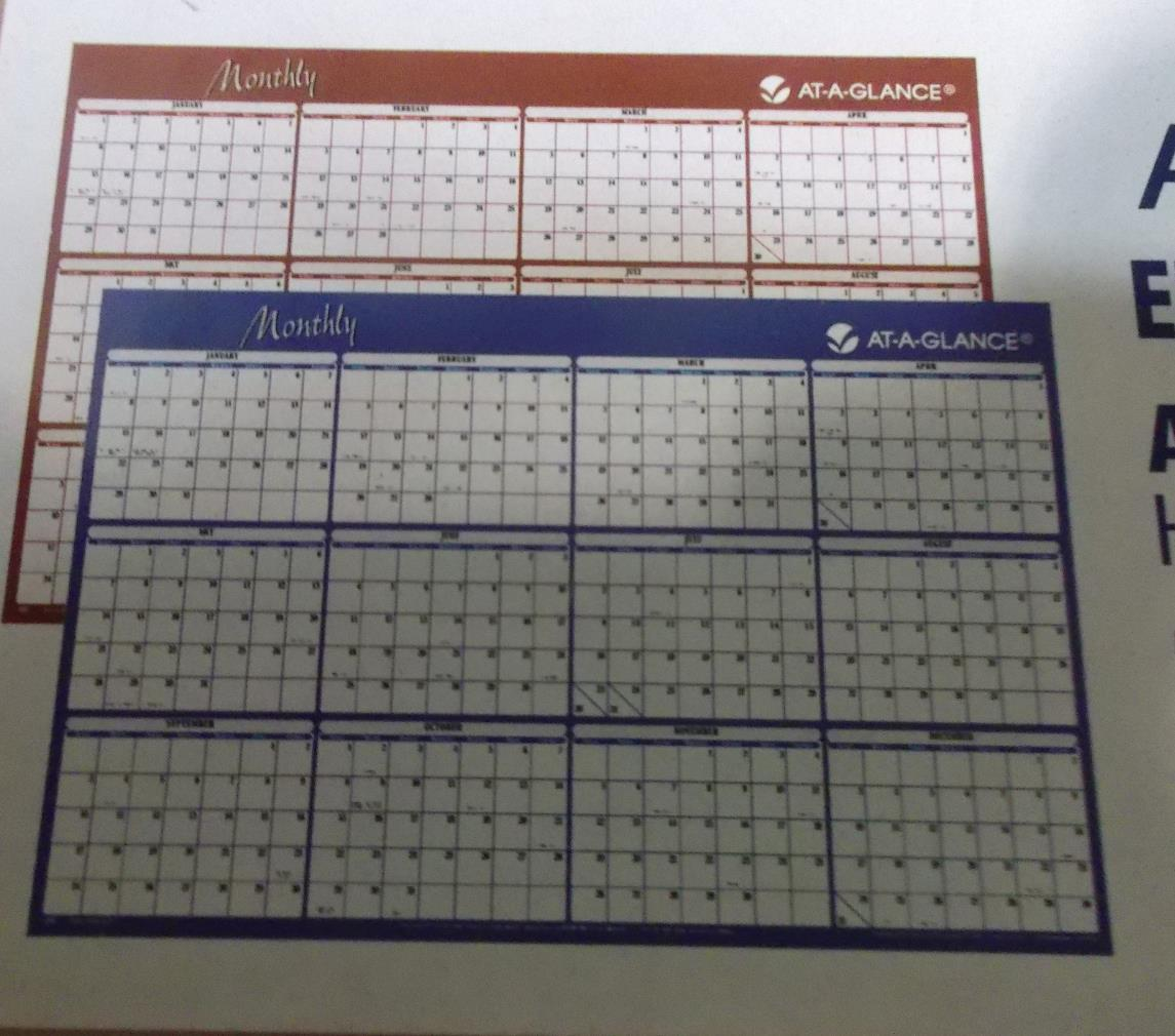... Glance Yearly Wall Calendar 2015 Horizontal Erasable Reversible | eBay