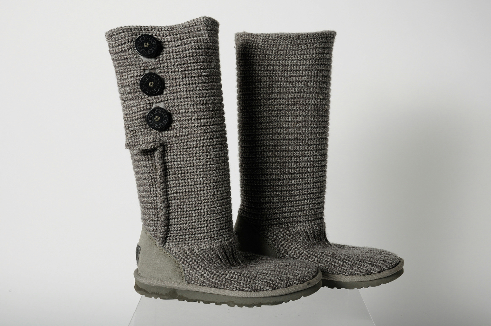 ugg classic cardy grey cable knit knee high winter