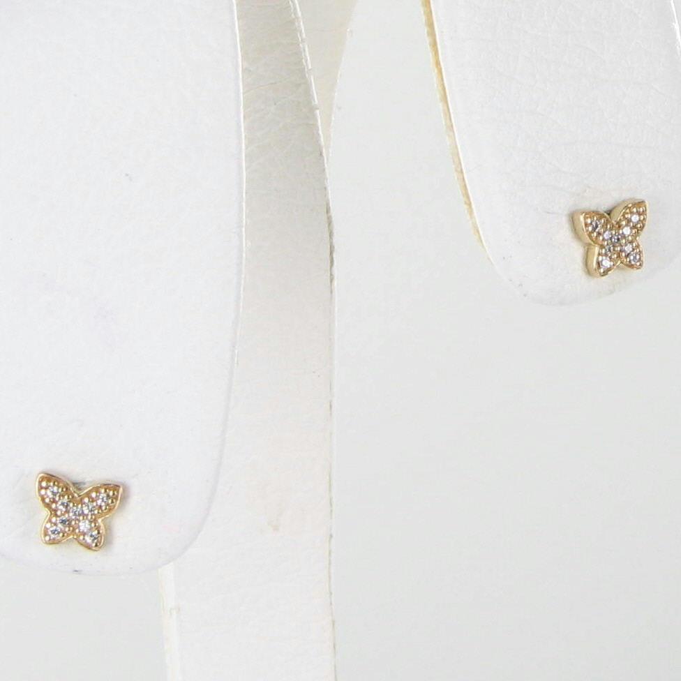 Pandora Butterfly Earrings: Pandora 250320CZ Earrings Petite Butterfly 14k Yellow Gold