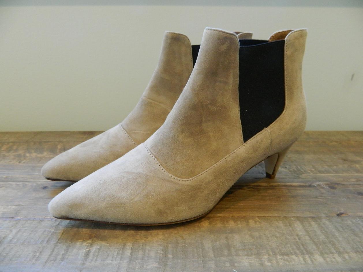 JCREW $228 Suede Kitten Heel Chelsea Boots e0144 pale umber brown