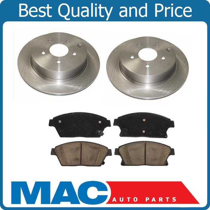 Front Brake Brakes Disc Rotor Rotors Ceramic Pad Pads Set