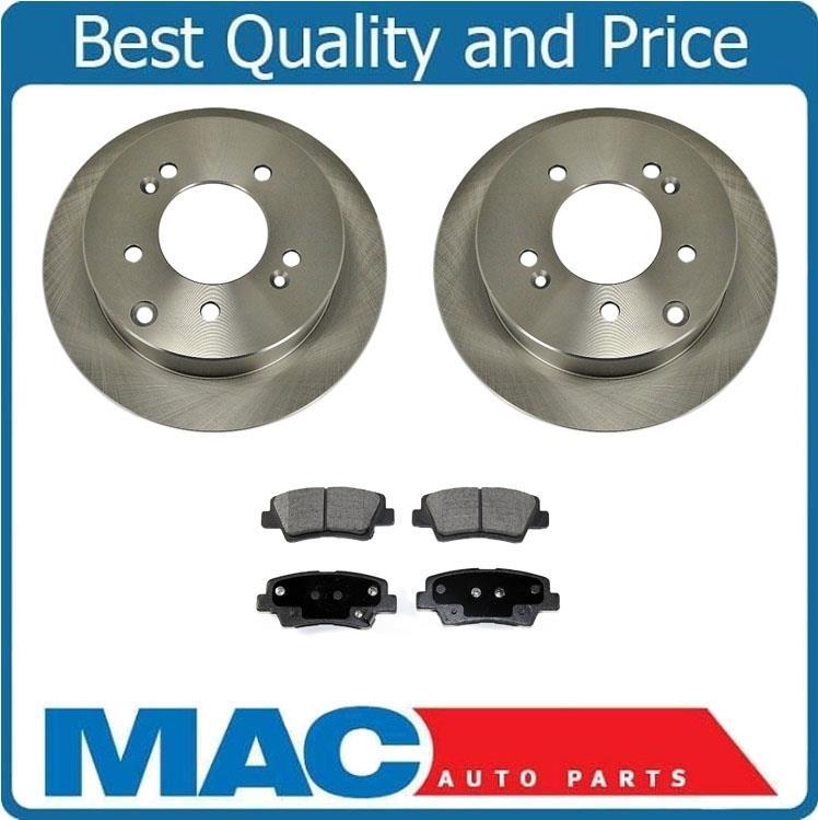 Rear Ceramic Brake Pad /& Coated Rotor Kit for 2010-2013 Kia Soul