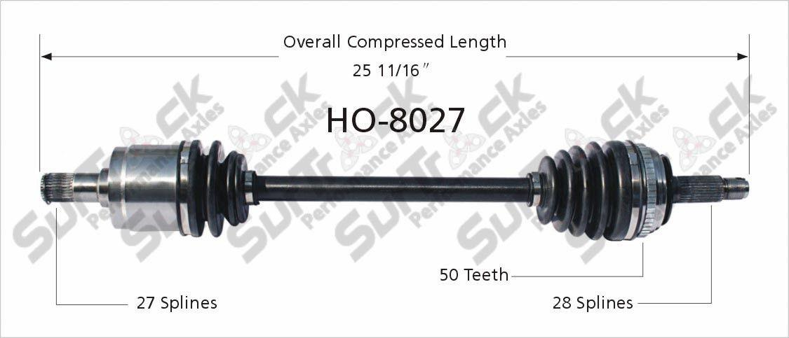 100/% New D//S CV Drive Axle Complete Shaft For Honda Accord V6 3.0L 1998-2002