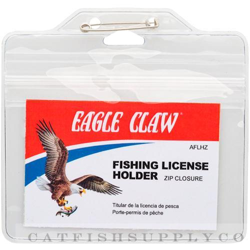 2 eagle claw waterproof fishing license holder aflhz ebay