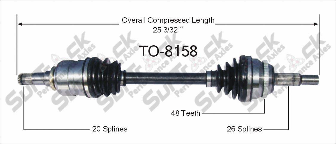 cv axle shaft new to 8158 fits 03 08 toyota corolla 1 8l manual transmission d s ebay. Black Bedroom Furniture Sets. Home Design Ideas