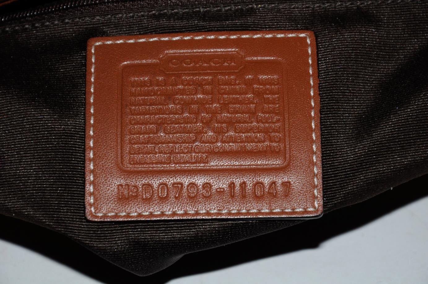 coach cognac brown leather twist lock shoulder bag tote purse 11047 ebay. Black Bedroom Furniture Sets. Home Design Ideas