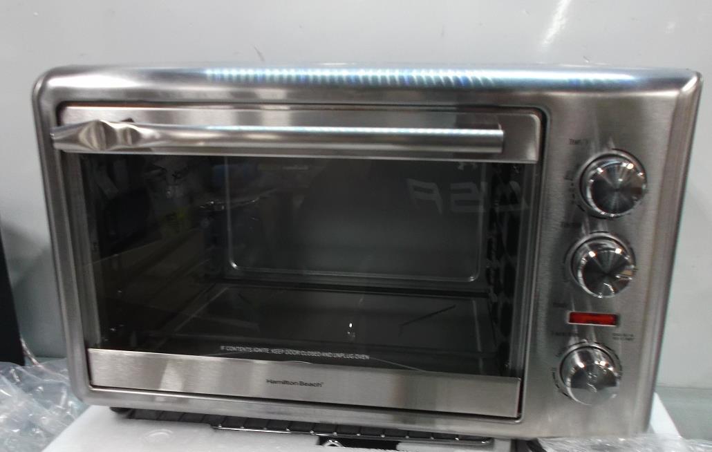 Hamilton Beach 31103A Countertop Oven w Convection Rotisserie Retails ...