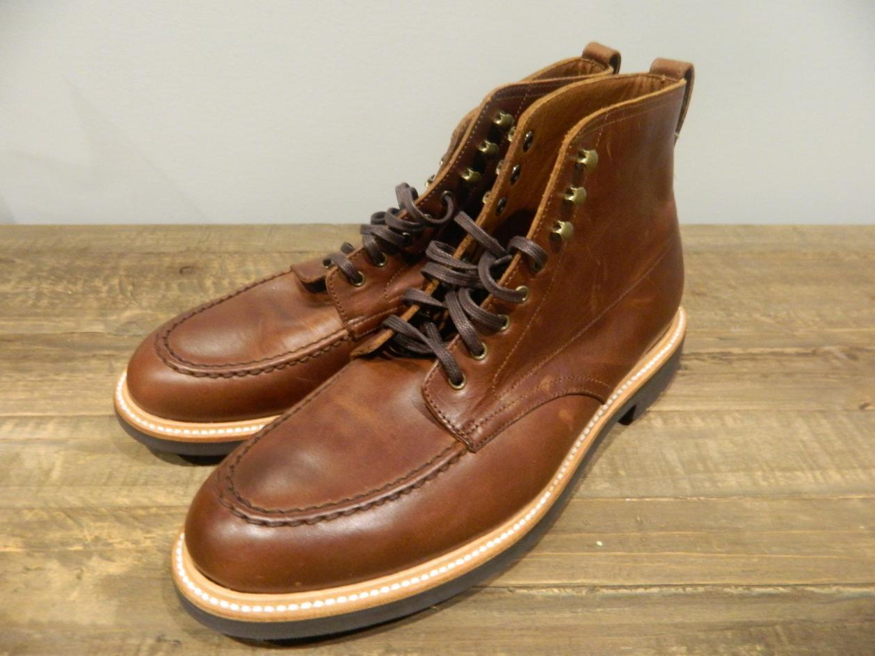 14ff662d3f5 J CREW Mens Kenton Leather Pacer boots 11.5 burnished tobacco brown ...